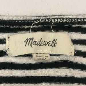 Madewell Tops - Madewell Black Striped Anthem Scoop Neck Tank Top